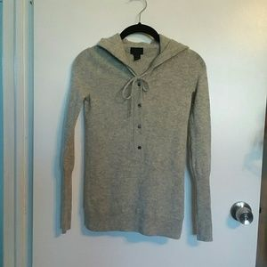 J.Crew Collection Italian Cashmere Hooded Sweater